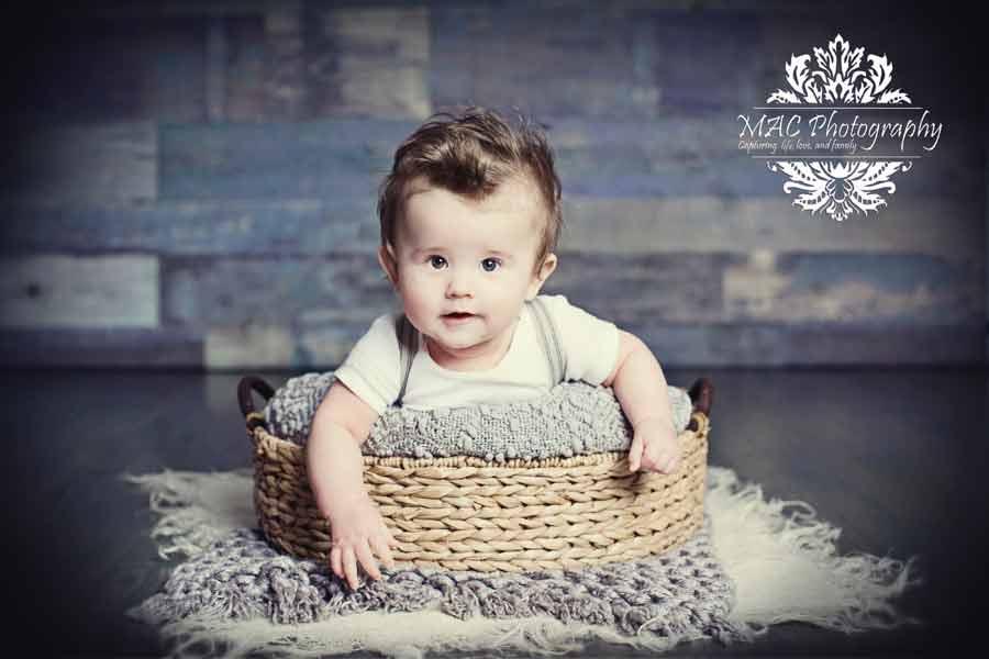 LOGAN'S 1ST PORTRAITS | BABY PHOTOGRAPHER